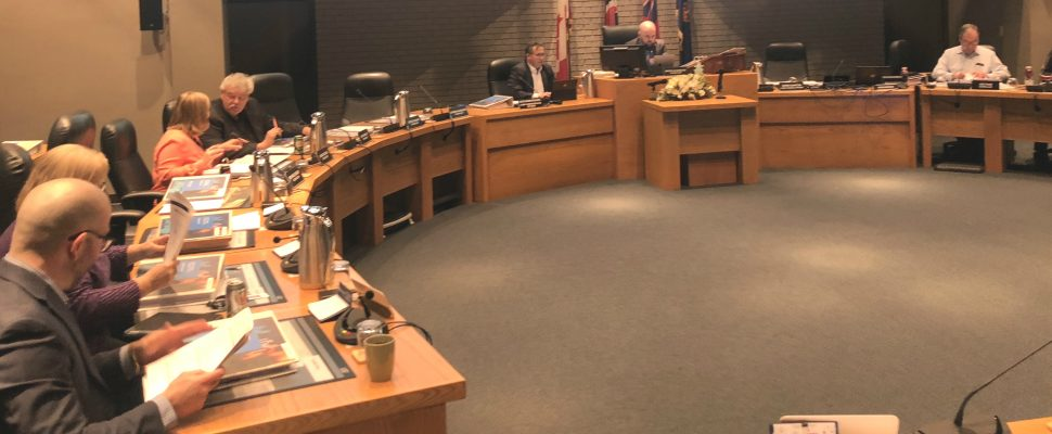 Council prepares for the first night of budget deliberations in Chatham on January 28, 2019 (Photo by Allanah Wills)