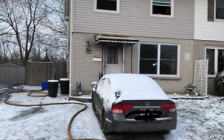 A fire at 68 Snowdon Cres. sent one person to hospital and left four cats dead, January 17, 2020. Photo courtesy of the London Fire Department.