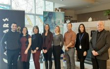 Representatives from The Hospice of Windsor and Essex County, and Caesars Windsor, at a media event on February 13, 2020. Photo submitted by The Hospice of Windsor and Essex County.