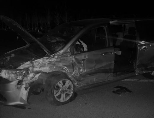 February 23 collision on Highway 77 (Photo courtesy OPP)