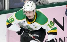 Liam Foudy of the London Knights. Photo by Luke Durda/OHL Images