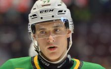 Matvey Guskov of the London Knights. Photo by Terry Wilson / OHL Iimages.