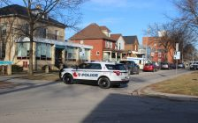 Windsor police investigating an assault on Bruce Ave. February 5, 2020. (Photo by Maureen Revait)