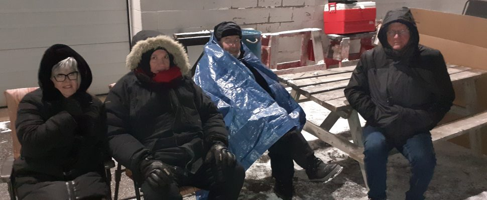 Windsor Residence for Young Men volunteers bundle up for a good cause. (Photo courtesy of Brian Worrall)