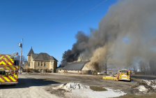 Harvesters Baptist Church fire on February 22, 2020 (Photo via London Fire)