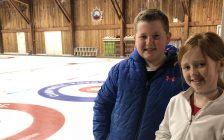 Colin and Reagan McKay at the Chatham Granite Club on February 19, 2020 (Photo by Allanah Wills)