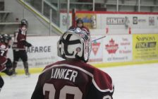 Chatham Maroons goaltender Kevin Linker. (Photo by Matt Weverink)