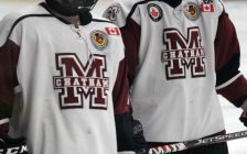 Chatham Maroons warm up ahead of a game against the St. Thomas Stars. (Photo by Matt Weverink)