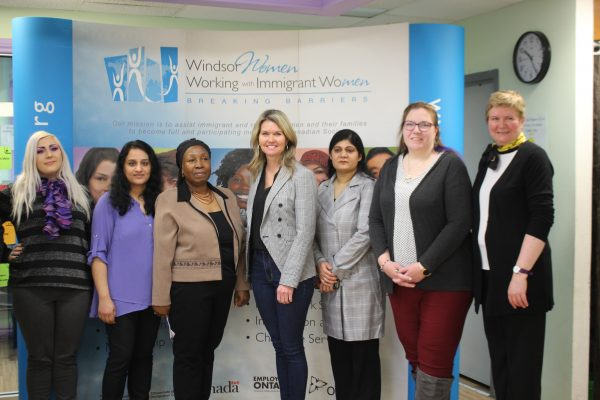 Minister Jill Dunlop visits the The Windsor Women Working With Immigrant Women, March 12, 2020. (Photo by Maureen Revait)