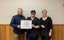 Huron County Designs received a new new business award at the Wingham BIA Annual General Meeting. Photo courtest of the Wingham BIA.