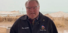 Lambton County Warden Bill Weber asks residents to help flatten the COVID-19 curve and stay home. Screen image from video uploaded to social media. March 30, 2020.