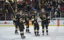 The Sarnia Sting win at home vs Sault Ste. Marie Mar. 1, 2020 (Photo courtesy of Metcalfe Photography)