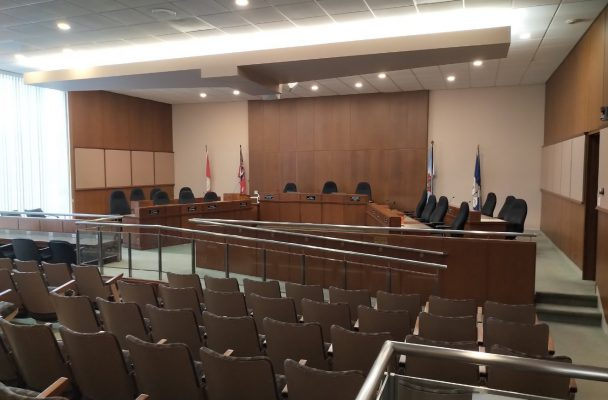 Council chambers at Sarnia City Hall. (Photo by Sarnia Mayor Mike Bradley from Twitter)
