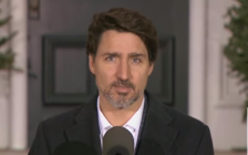 Prime Minister Justin Trudeau addresses the media on March 29, 2020 (Screengrab via Facebook)