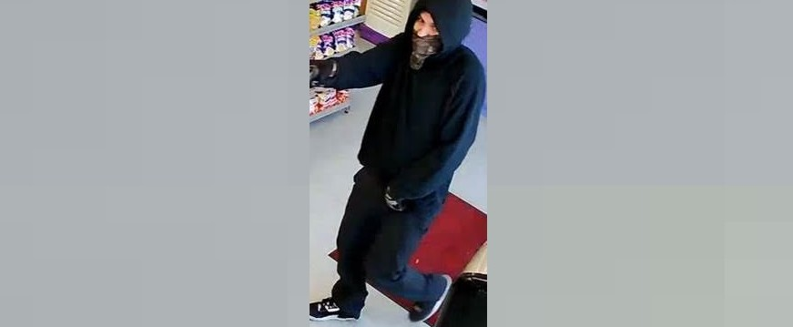 Photo of a suspect wanted in connection with a robbery in Chatham on March 25, 2020. (Photo courtesy of Chatham-Kent police)