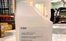 (Photo of a bottle of hand sanitizer made by BASF in Windsor, courtesy of BASF)