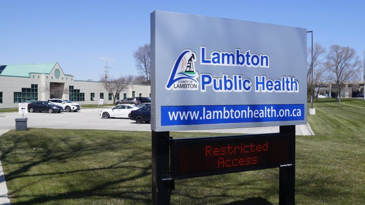 Lambton Public Health on Exmouth Street in Sarnia. 27 April 2020. (BlackburnNews.com photo by Colin Gowdy)