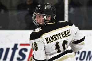 The Sarnia Sting picked Max Namestnikov third overall in the 2020 OHL Draft - April 4,2020. (TIM CORNETT/OHL Images)
