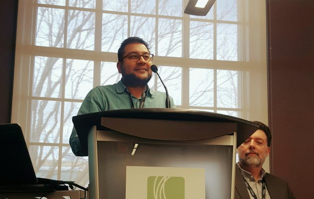 Lambton Medical Officer of Health Dr. Sudit gives advice to students and new professionals about careers in public health. March 2017. (Photo by Ontario Public Health Association)