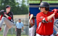 (Left) Greg Ross with the Great Lake Canadians. 2019. (Photo by C. Roenspiess Photography) (Right) Nicholas George with the Great Lake Canadians. (Photo provided by George)