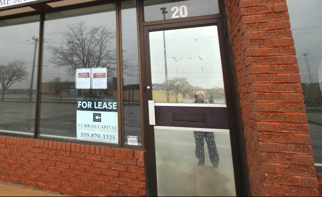 Proposed Sarnia pot shop location on Lambton Mall Road (BlackburnNews.com photo by Dave Dentinger)