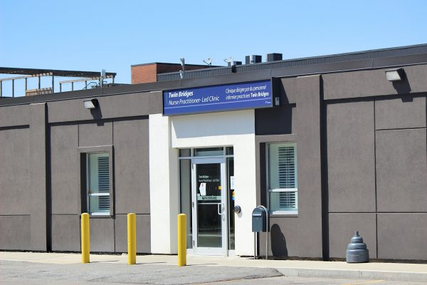 COVID-19 assessment centre 153 Christina St. Sarnia May 2020 (BlackburnNews.com photo by Dave Dentinger)