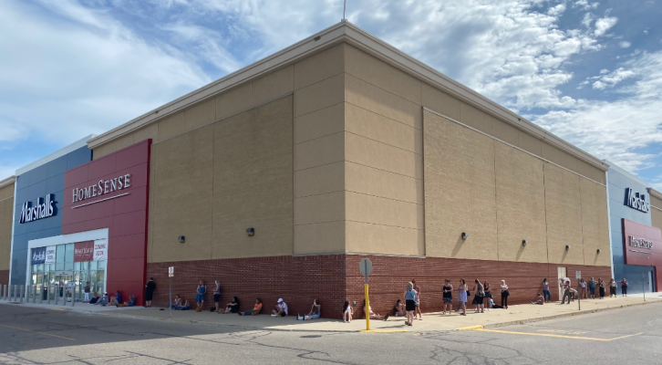 Marshalls HomeSense Opening at Lambton Mall in Sarnia. May 27, 2020 Photo by Melanie Irwin