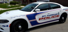 A St. Thomas Police Service cruiser. August 13, 2019. (Photo by STPS)