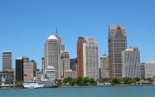 The Detroit skyline. May 31, 2020 (Photo by Adelle Loiselle)