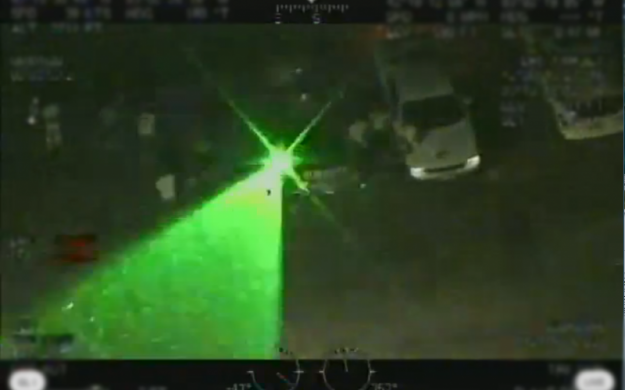 U.S. Customs helicopter targeted by laser beam. (Photo courtesy of U.S. Customs and Border Protection)