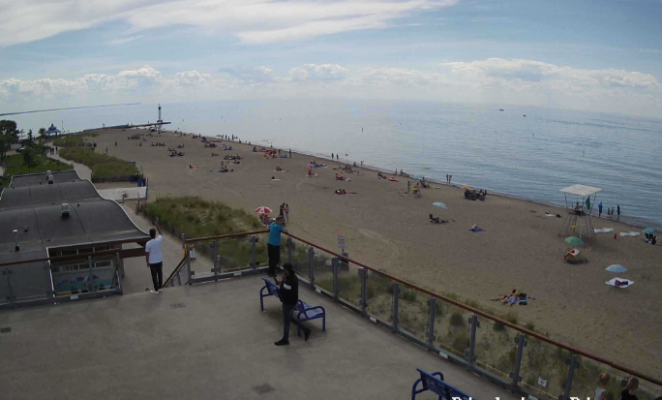 Grand Bend Beach June 25, 2020 Image courtesy of Grand Bend Pier Beach Cam.