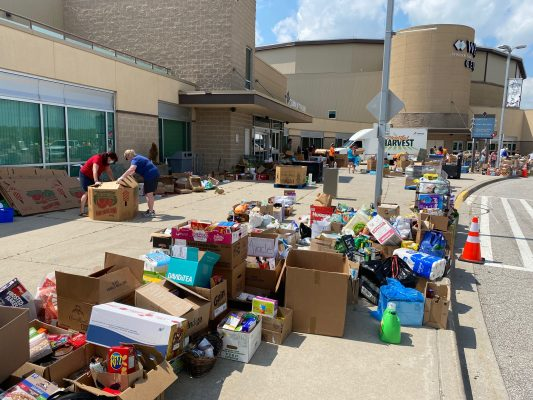 Over 10,000 volunteers help sort and collect food donations across Windsor-Essex for the June 27 Miracle. June, 27, 2020. (File photo courtesy of Darrin Drouillard)