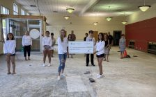 Youth members of the Spoken Hope Committee stand in the future site of ACCESS Open Minds Sarnia-Lambton (Submitted photo)