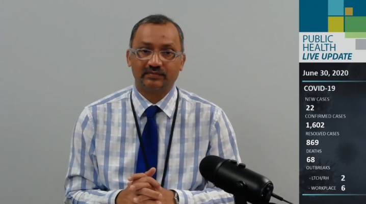 Medical Officer of Health for Windsor-Essex Dr. Wajid Ahmed (Daily media briefing via YouTube)