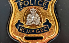 An RCMP badge. Photo courtesy of Middlesex OPP.