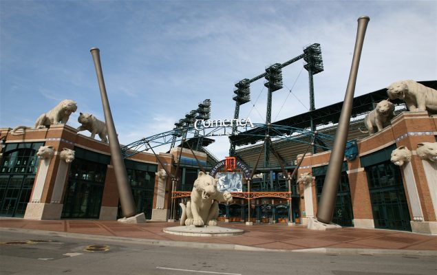 Comerica Park in Detroit. home of the Tigers. July 2007. (Photo from Wikipedia)
