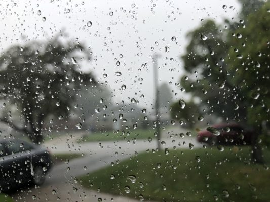 Rainfall in Chatham-Kent on July 19, 2020 (Photo by Matt Weverink)