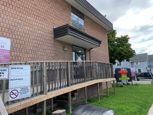 COVID-19 Assessment Centre at the Chatham-Kent Health Alliance. August 11, 2020. (Photo courtesy of Lori Marshall via Twitter)
