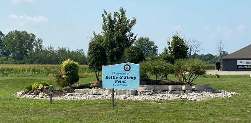 Chippewas of Kettle and Stony Point First Nation. 24 August 2020. (BlackburnNews.com photo by Melanie Irwin)
