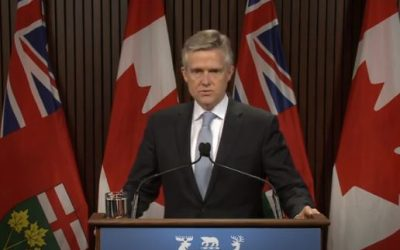 Ontario Finance Minister Rod Phillips. Screen capture from Ontario government YouTube page.
