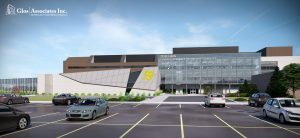 A drawing of the future Zekelman Centre of Business and Information Technology at St. Clair College. Image provided by St. Clair College.