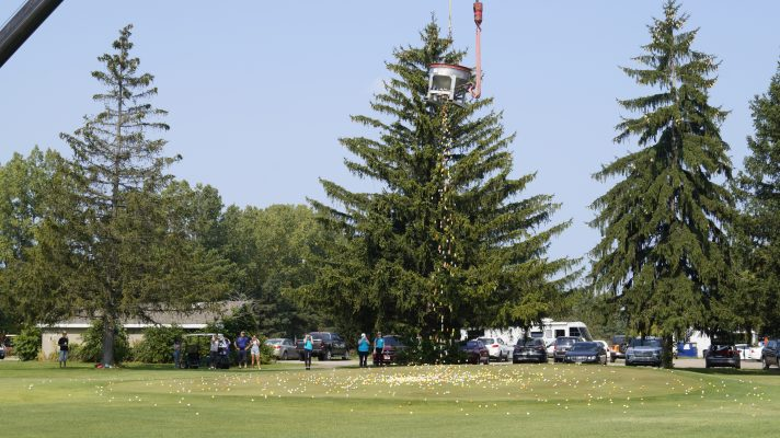 The Big Drop at Greystone Golf Course in Sarnia, put on by Big Brothers Big Sisters. 24 September 2020. (BlackburnNews.com photo by Colin Gowdy)