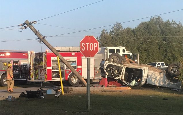 Emergency crews respond to a serious collision at Hazen Road and 11th Concession Road in Norfolk County, September 25, 2020. (Photo courtesy of the OPP via Twitter)