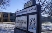 Great Lakes Secondary School on Murphy Road in Sarnia. 6 January 2020. (BlackburnNews.com photo by Colin Gowdy)