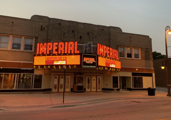 """""""Light Up Live"""" at Sarnia's Imperial Theatre. September 22, 2020 Photo courtesy of Brian Austin."""
