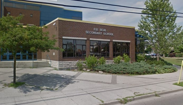 H.B. Beal Secondary School. Photo courtesy of Google Street View.