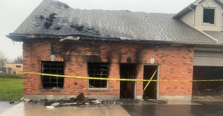 The aftermath of a fire at Lang's Off-Road in Dorchester, October 22, 2020. (Photo courtesy of Lang's Off-Road via Facebook)