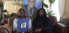 Jerome Allen's mother Catherine and sister Shandel, via YouTube video by the Windsor Police Service.