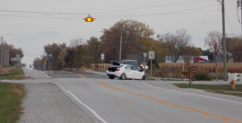 Two vehicle crash at Petrolia Line and Kimball Road in St. Clair Township. October 21, 2020 Photo courtesy of Brian Bedard