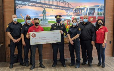 Firehouse Subs marks Sarnia opening with fire department donation  image